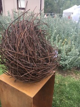 Metal birds nest for your garden